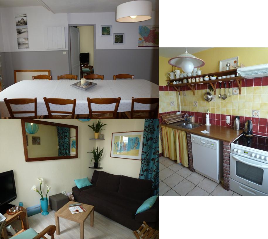 Salle manger cuisine et petit salon disposition les abris c tiers en baie de somme for Petit salon salle a manger